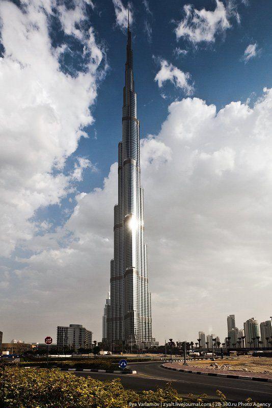 Дубай с высоты самого высокого здания в мире   Бурдж ...