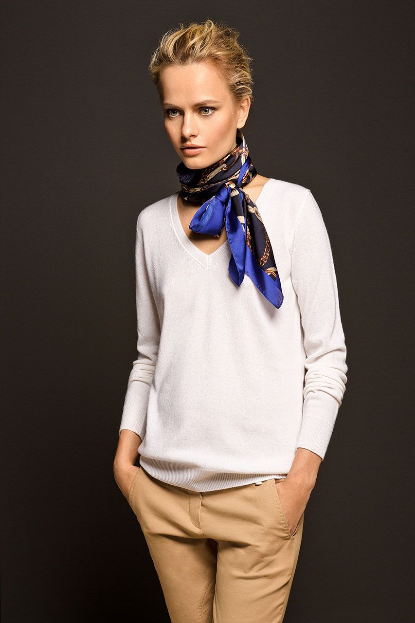 Limited Edition 100 Cashmere V Neck Sweater Massimo Dutti Scarf Styles Silk Scarf Style Fashion