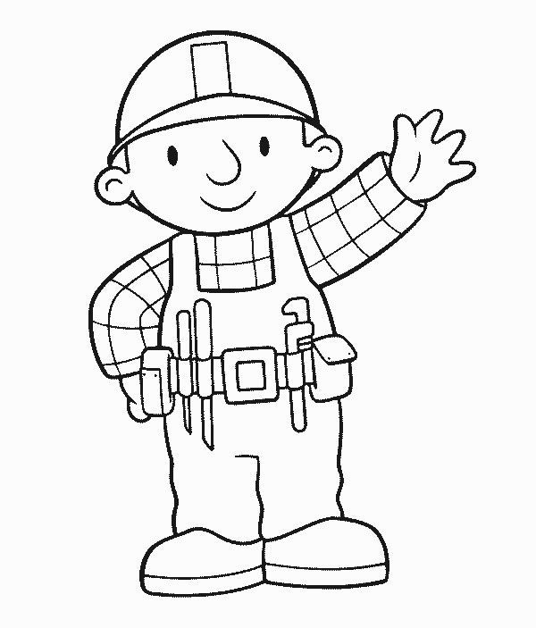 Mecanico Bob The Builder Coloring Books Coloring Pages