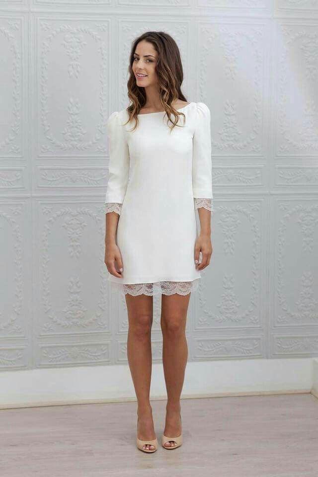 vestido novia corto | bodas | pinterest | vestidos, boda y vestidos