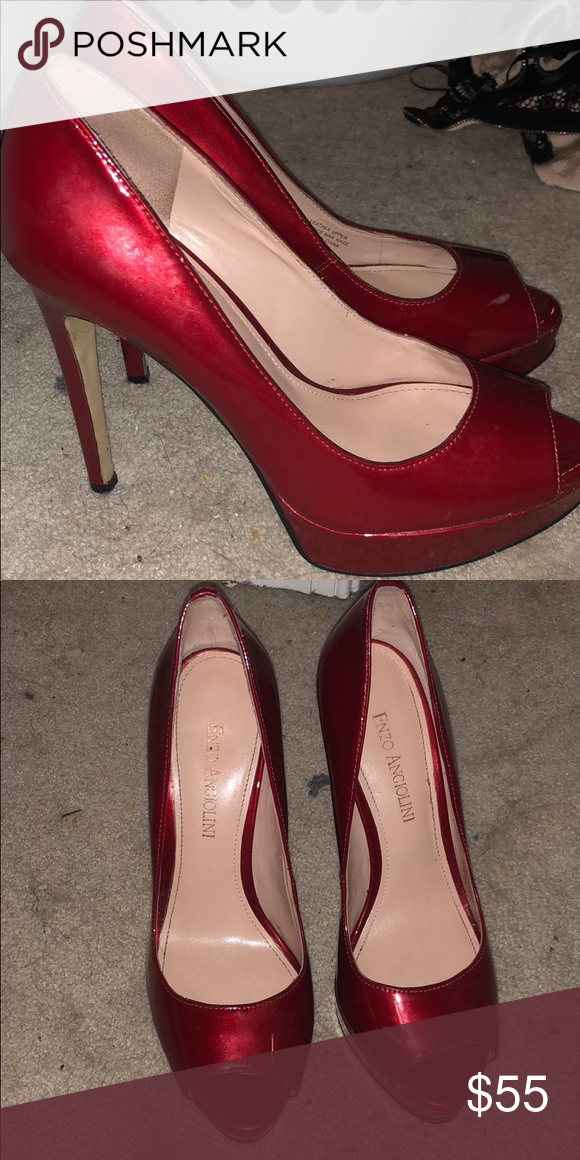 dda21ba604e Enzo Angiolini red pump heels Enzo Angiolini red pump heels. 5-6 ...