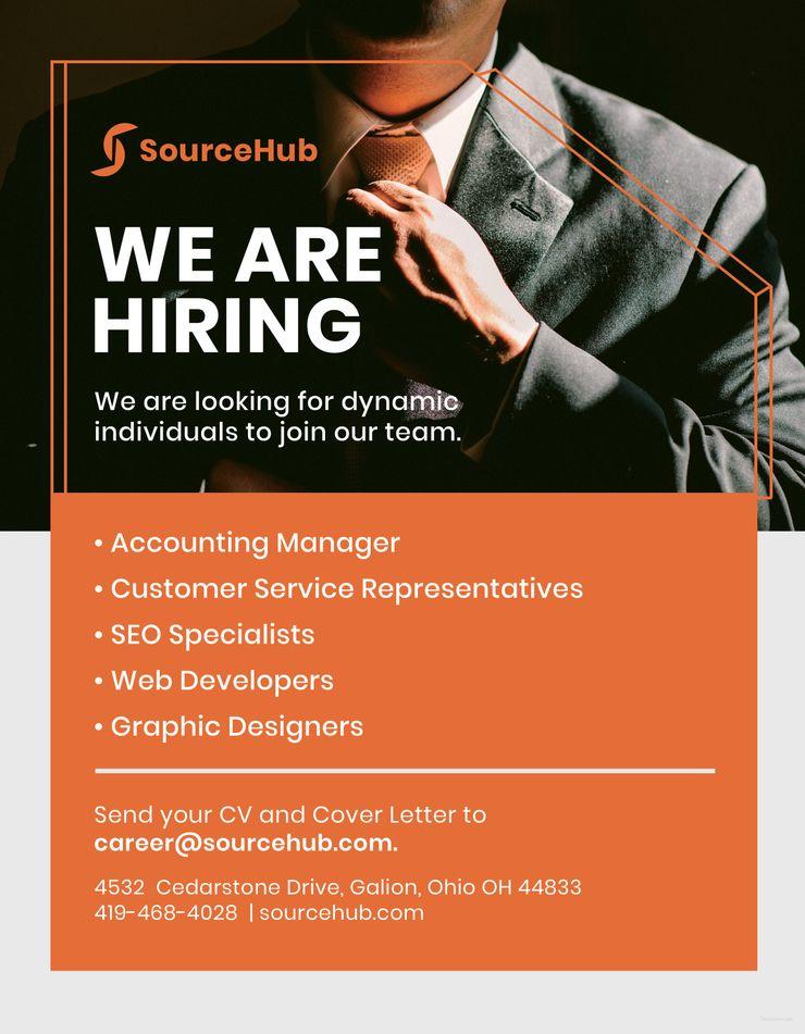 Free Recruitment Flyer | Recruitment poster design, Recruitment, Flyer
