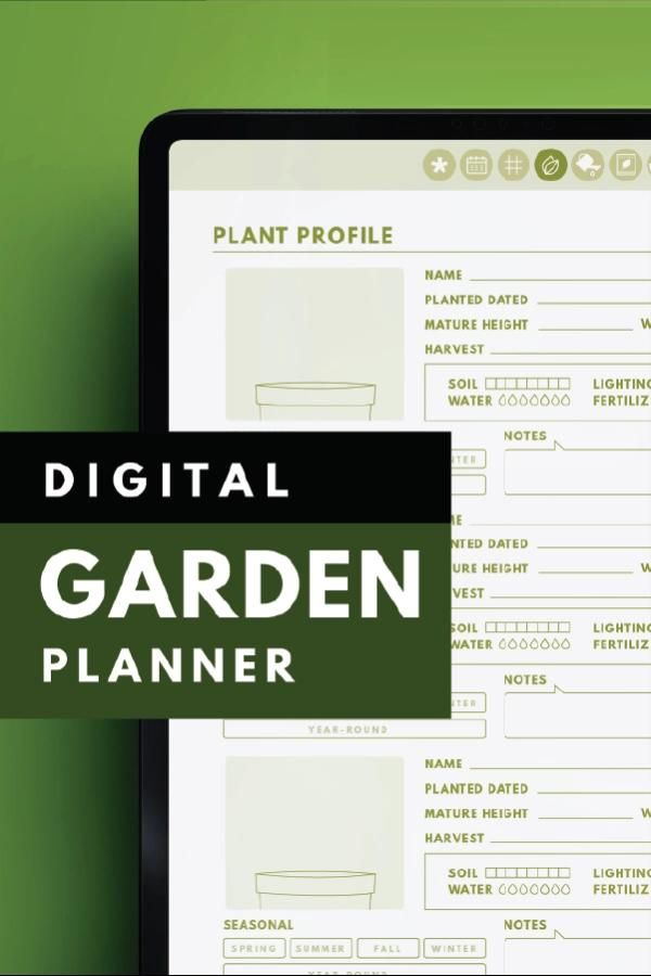 Digital Garden Planner, Digital Garden Journal, iPad Garden Planner for Goodnotes -   16 planting Garden cheat sheets ideas