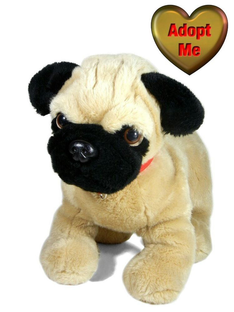 Build A Bear Kennel Pals Tan Black Fawn Pug Puppy Dog Stuffed