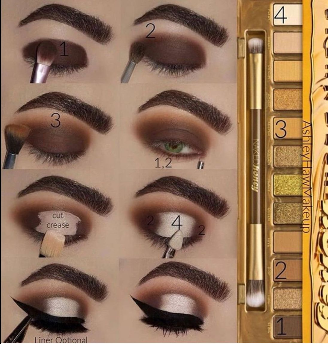 20 Step By Step Eye Makeup Tutorials With Pictures