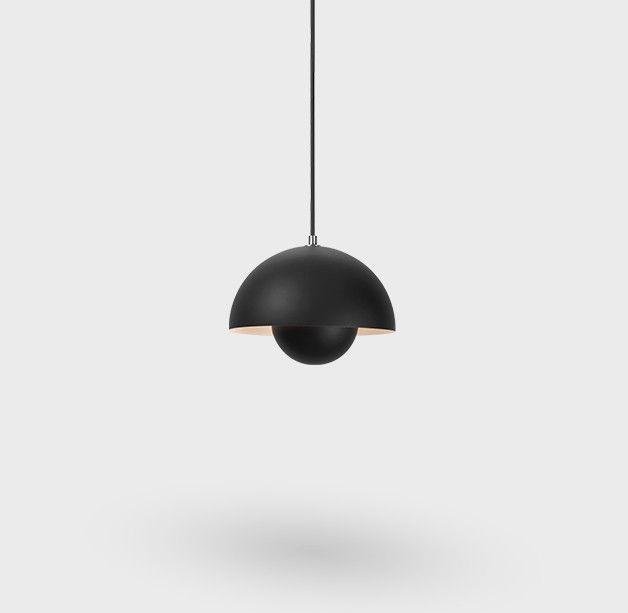 Flowerpot Vp1 Pendel Lampe O23cm Matt Black Tradition Stue Drommehus Hytte Innredning