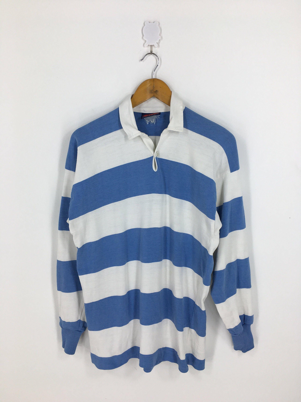 Canterbury New Zealand Medium Striped Rugby Shirt Vintage All