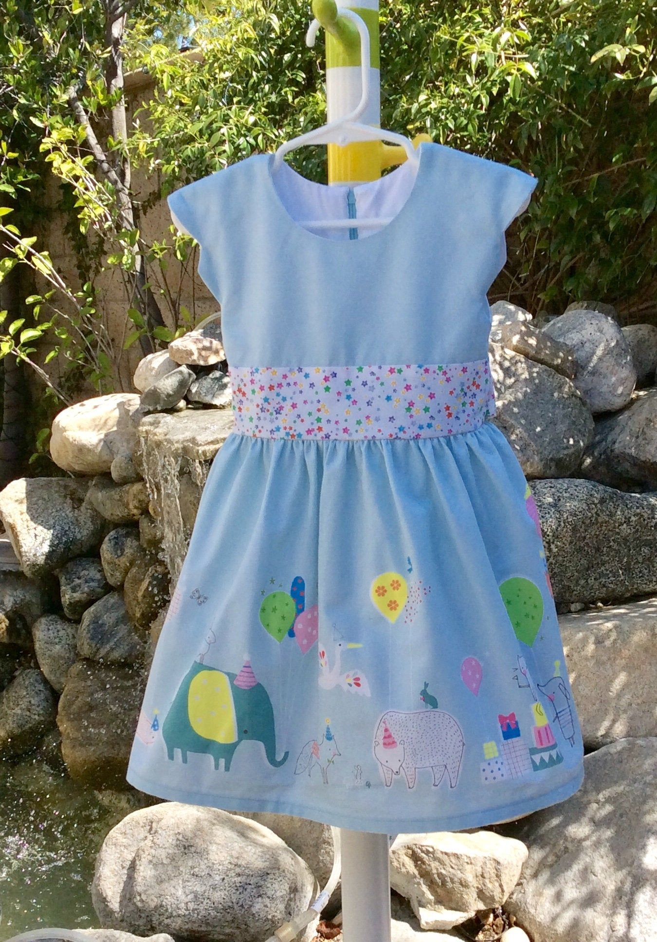 Baby Girls And Toddlers Birthday Party Dress Animals Parade Etsy Toddler Birthday Dress Birthday Party Dress Baby Girl Party Dresses [ 1936 x 1350 Pixel ]