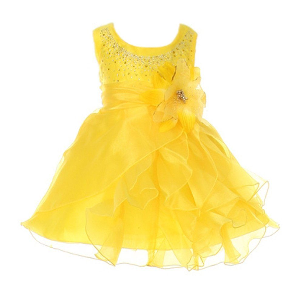 1374c9e7c6a Amazon.com  Cinderella Couture Baby-Girls Cascading Organza Rhinestone  Flower Girl Dress  Special Occasion Dresses  Clothing