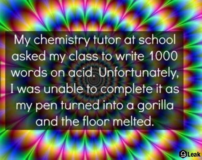 I was told to write an essay on acid