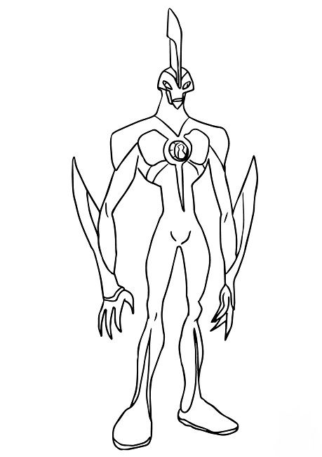 ben 10 waybig coloring pages drawing reference pinterest ben