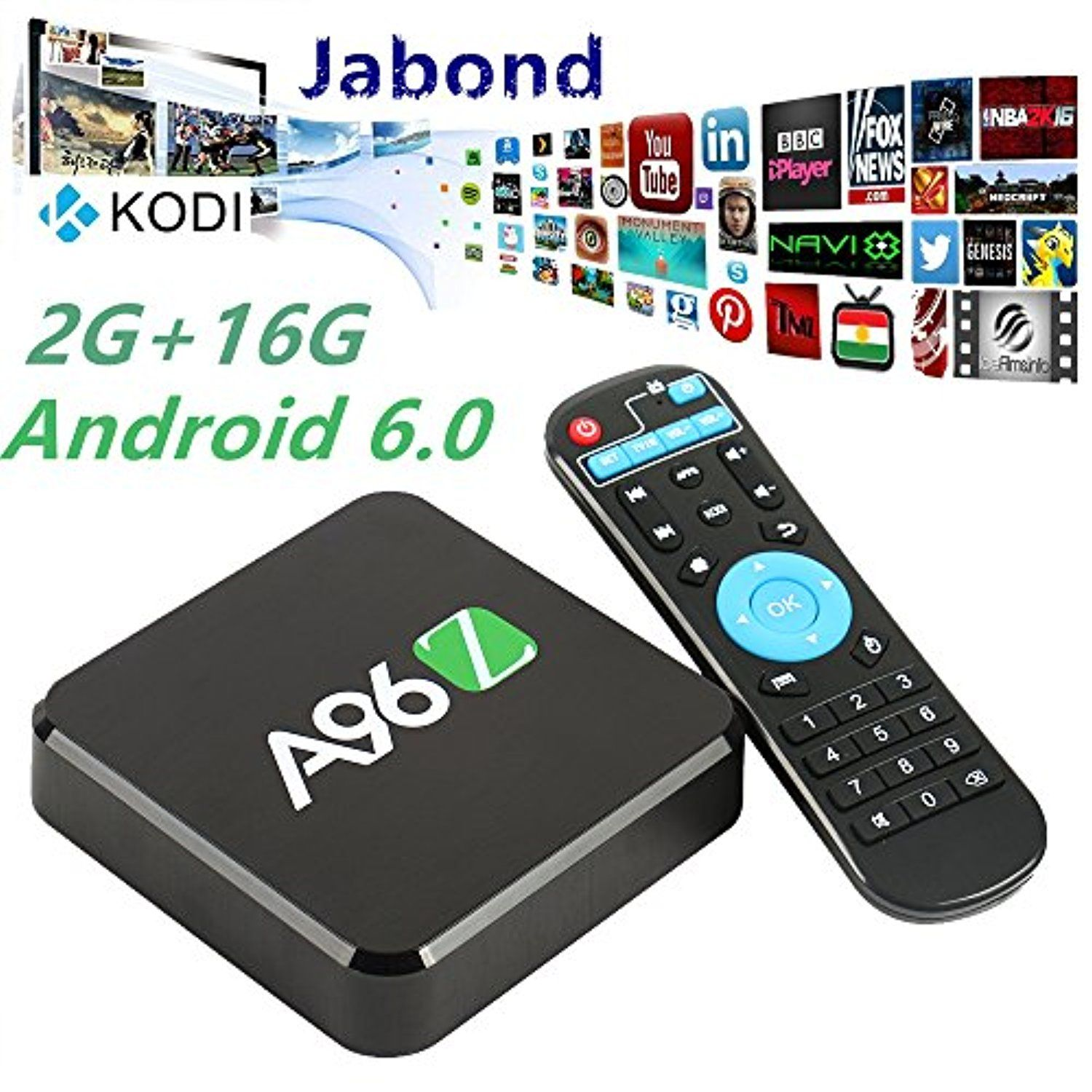 Jabond Best A96Z 4K TV Box 2GB/16GB Android 6 0 Fully Loaded