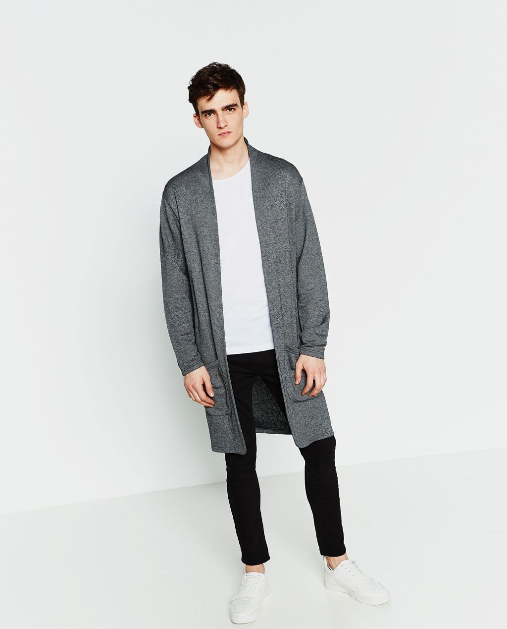 04ff83f78b ZARA - MAN - LONG CARDIGAN