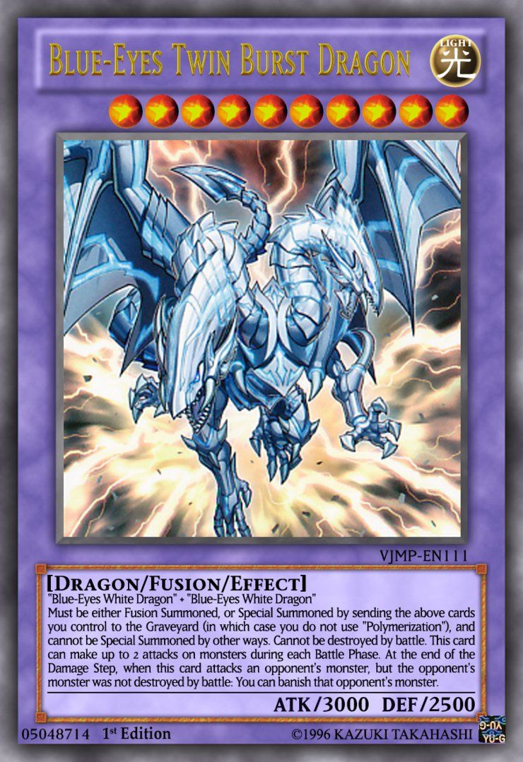 Blueeyes twin burst dragon yugioh ocg by yeidenex