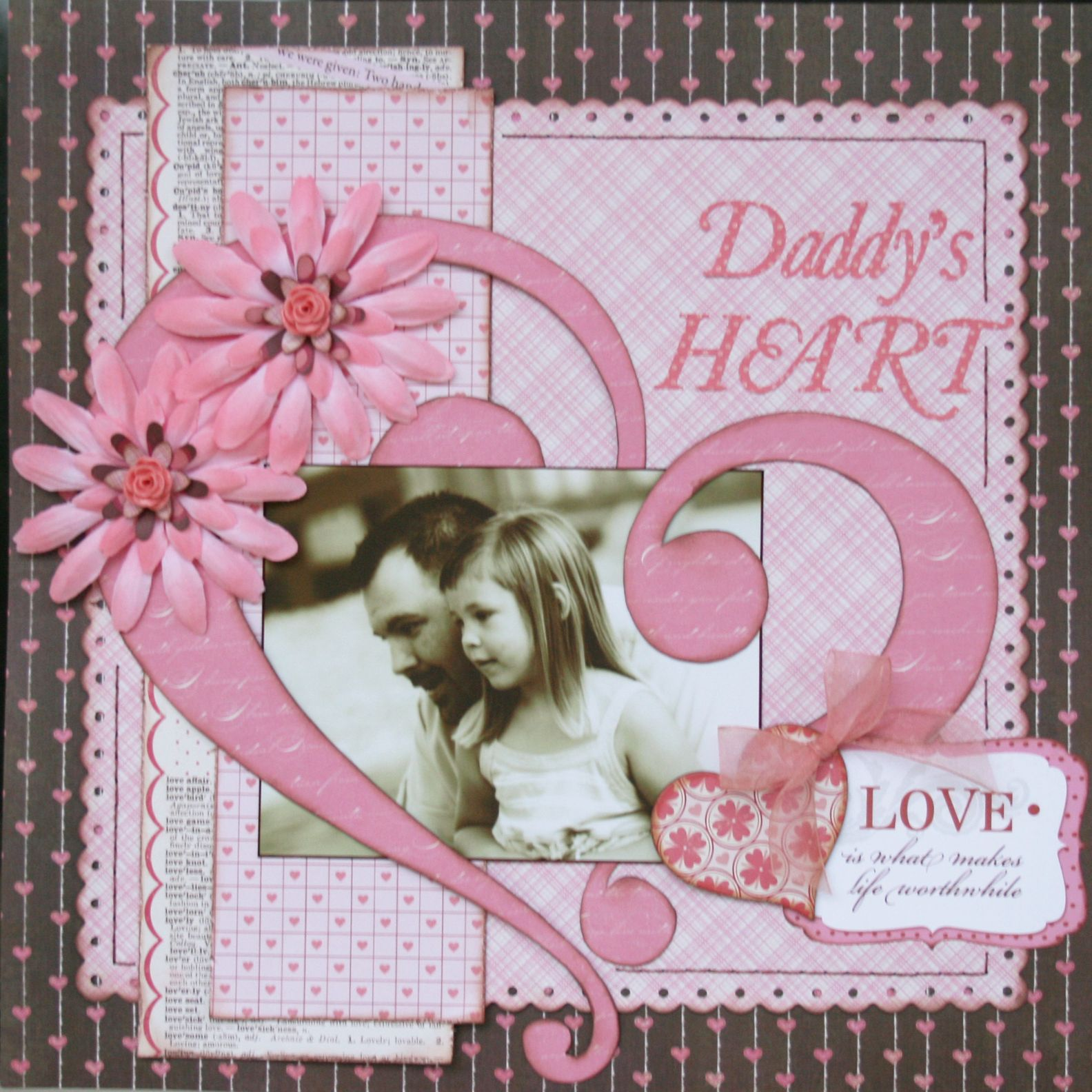 daddy u0026 39 s heart scrapbooking  page  layout