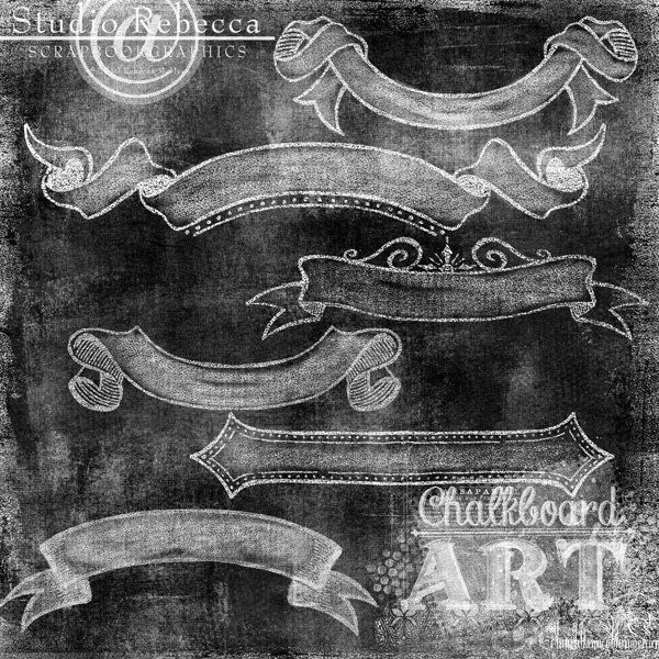 Chalk Art Anthology: Banners Auf shop.scrapbookgraphics.com http://www.pinterest.com/janicetabor/art-and-graphic-design/