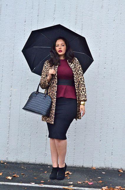 037b19af52487 plus size vamp look with leopard print coat