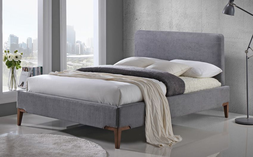 Andromeda Grey Fabric Bed Bedroom Ideas Pinterest Grey Fabric