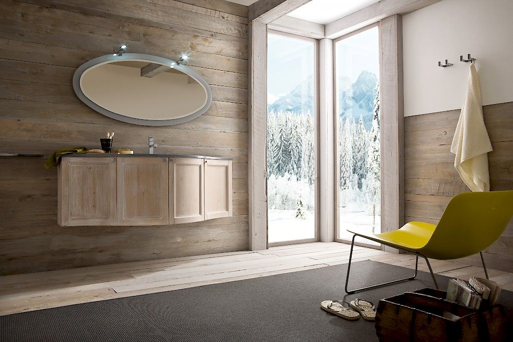 Il fascino del legno naturale in bagno marrone design interni