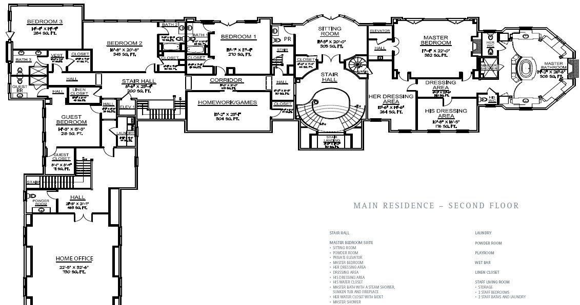 Lake Carrington Estate 11 Langhorne Lane Greenwich Ct Second Floorplans Hotr Floor Plans Mansion Floor Plan How To Plan