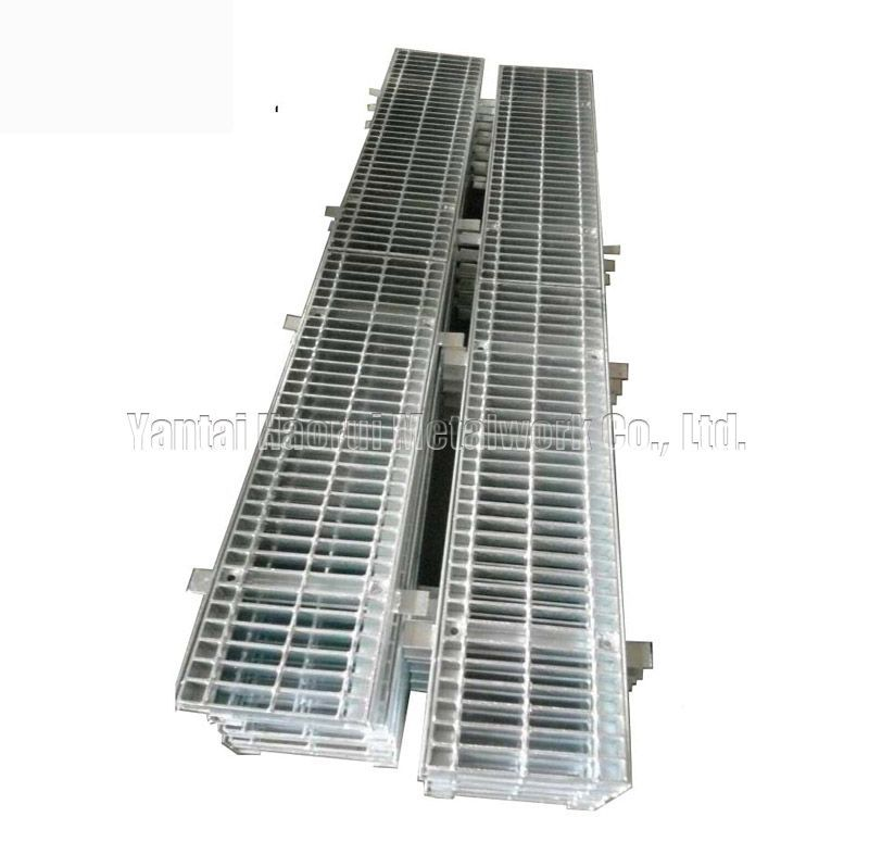 Trench Cover Box Grate With Supporting Bar Aluminumstairtreads Gratingclamp Steelgrating Steelsheet Trench Cover Grates Frames Is Divided Into Two Parts