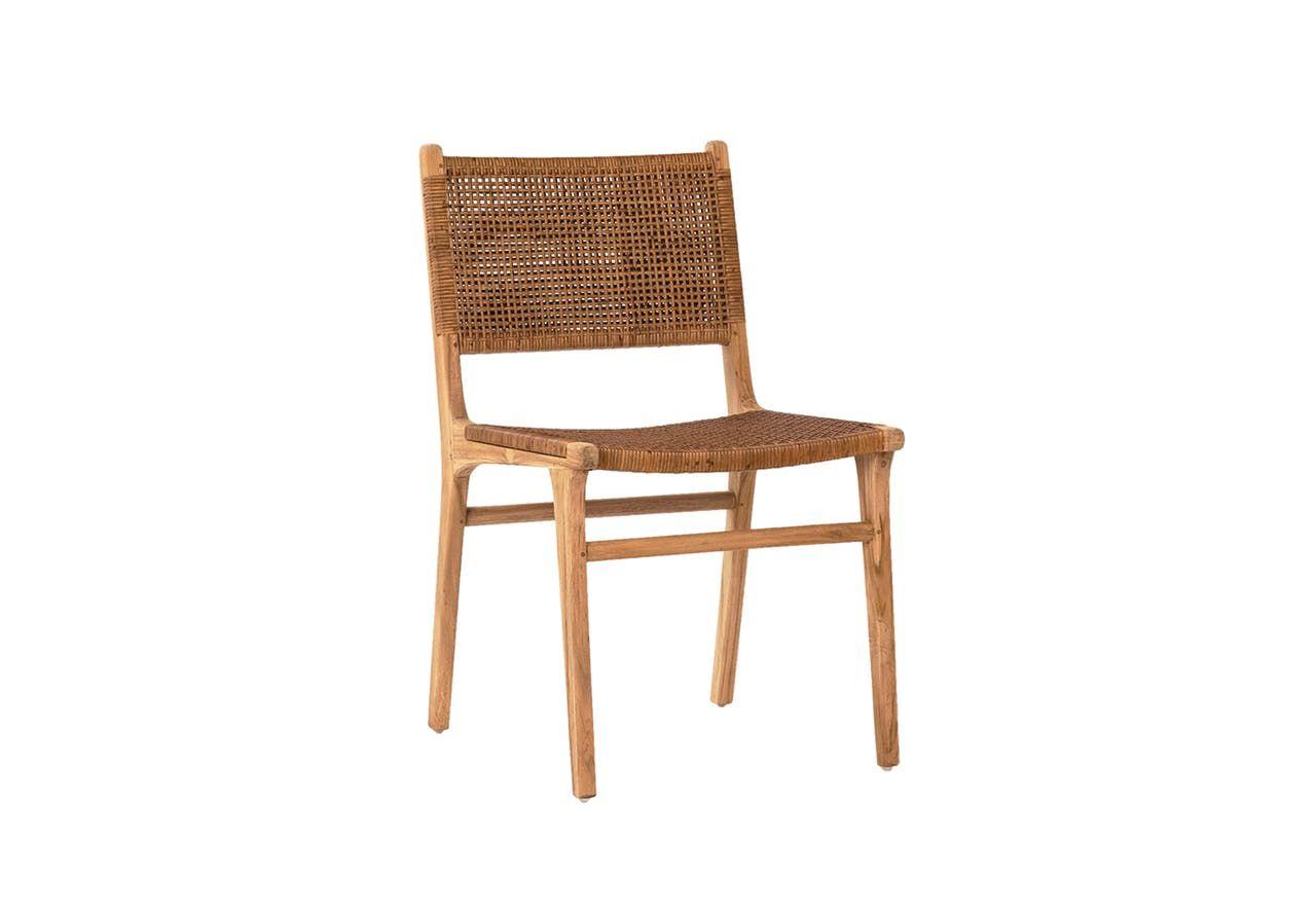 The Modern Teak Wicker Dining Chair In 2020 Wicker Dining Chairs Dining Chairs Furniture Boutique