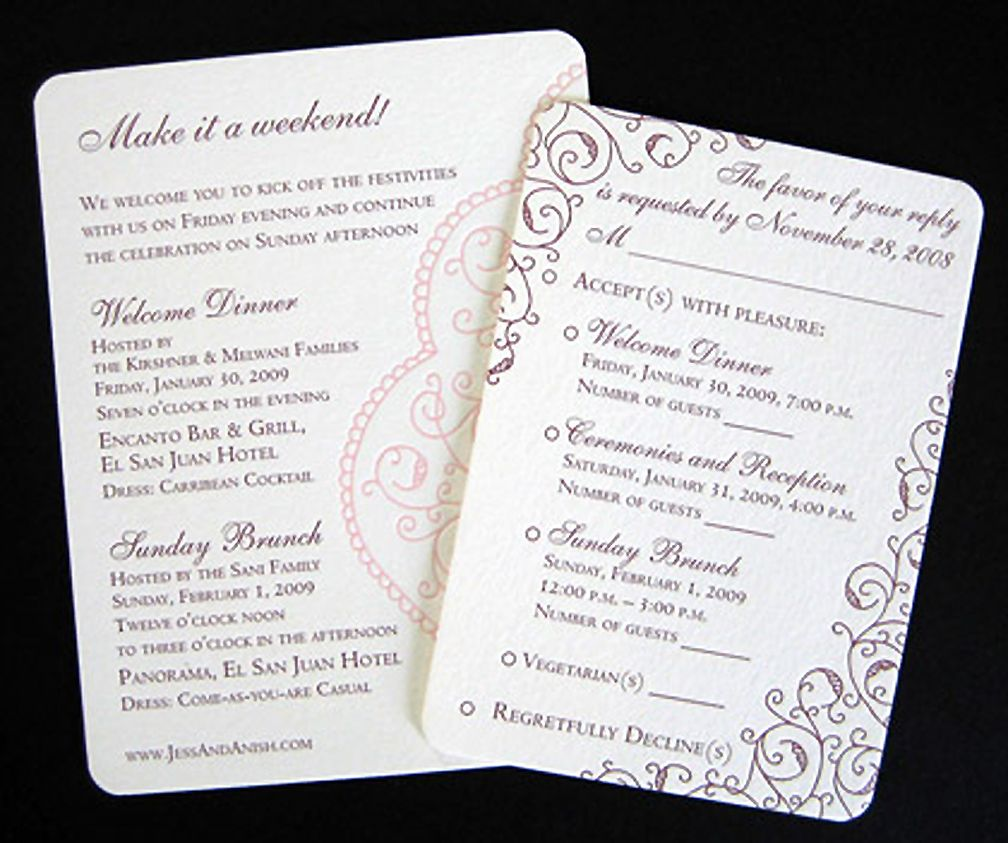 Multi Event With Images Unique Wedding Invitations Unique