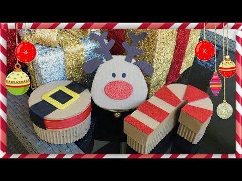 Caja De Regalos Para Navidad De Ultimo Minuto3 Manualidades - Manualidades-faciles-de-navidad-para-regalar