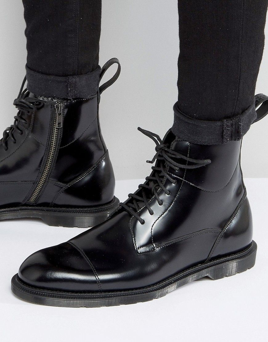a653b9735277 Dr Martens Winchester 7 Eye Lace   Zip Boots - Black