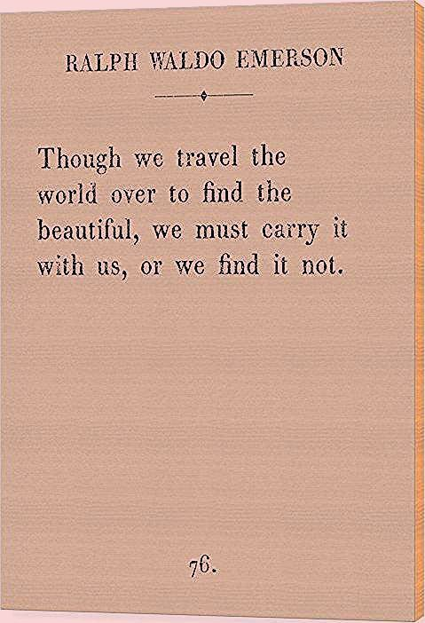 Photo of Emerson Travel Quote – Wood Print