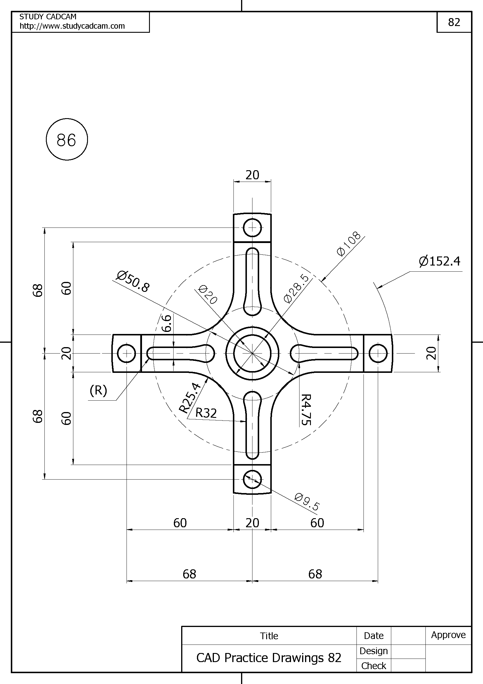 Pin De Studycadcam Em Cad Practice Drawings