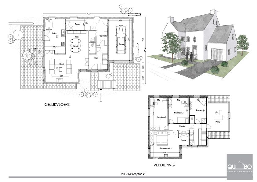 Pastorijwoning plattegrond pinterest plattegronden huis bouwplannen en slaapkamers - Plan indoor moderne woning ...