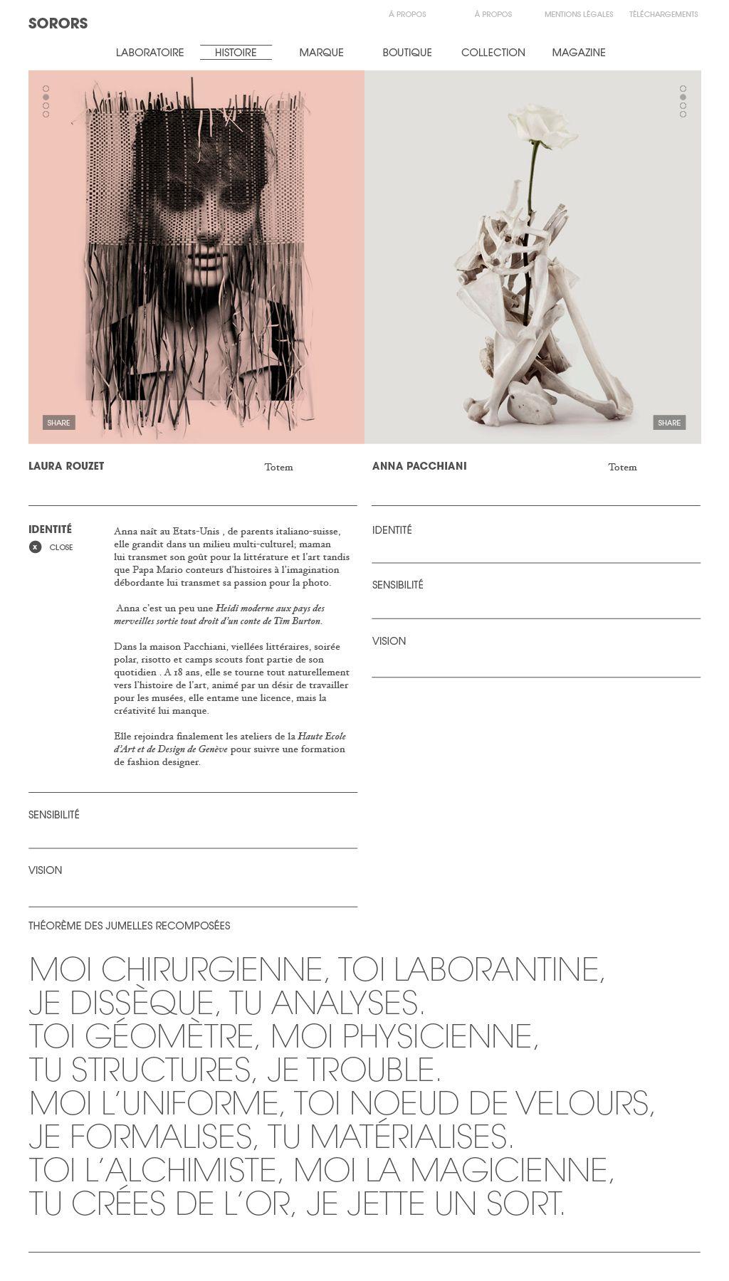 Sorors, Design & direction artistique