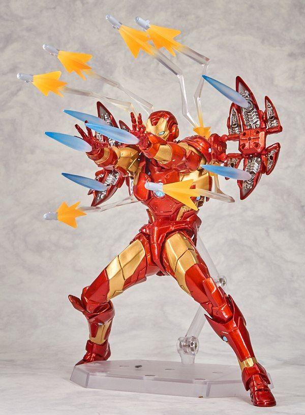 Iron Man Revoltech SciFi Super Poseable Action Figure Iron Man Kaiyodo Series no EX