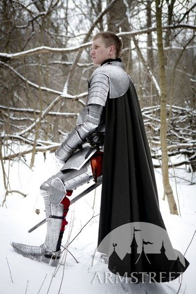 Stainless etched full medieval knight armor set (ArmStreet' 2014)