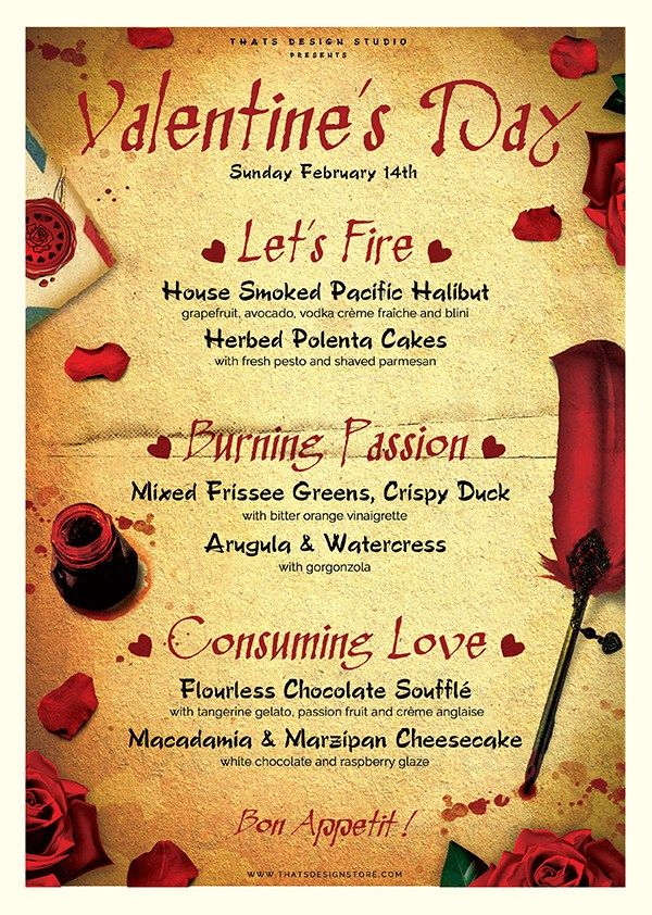 Valentine Flyer Design Menu Template For Photoshop Mens Breakfast