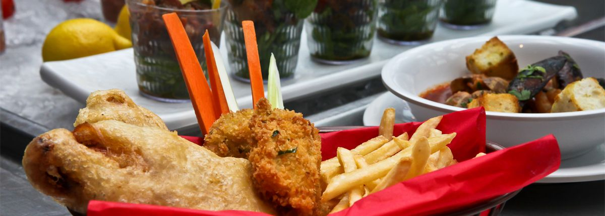 Fish n 39 chips cruise seafood restaurant carnival for Cruise ship with best food