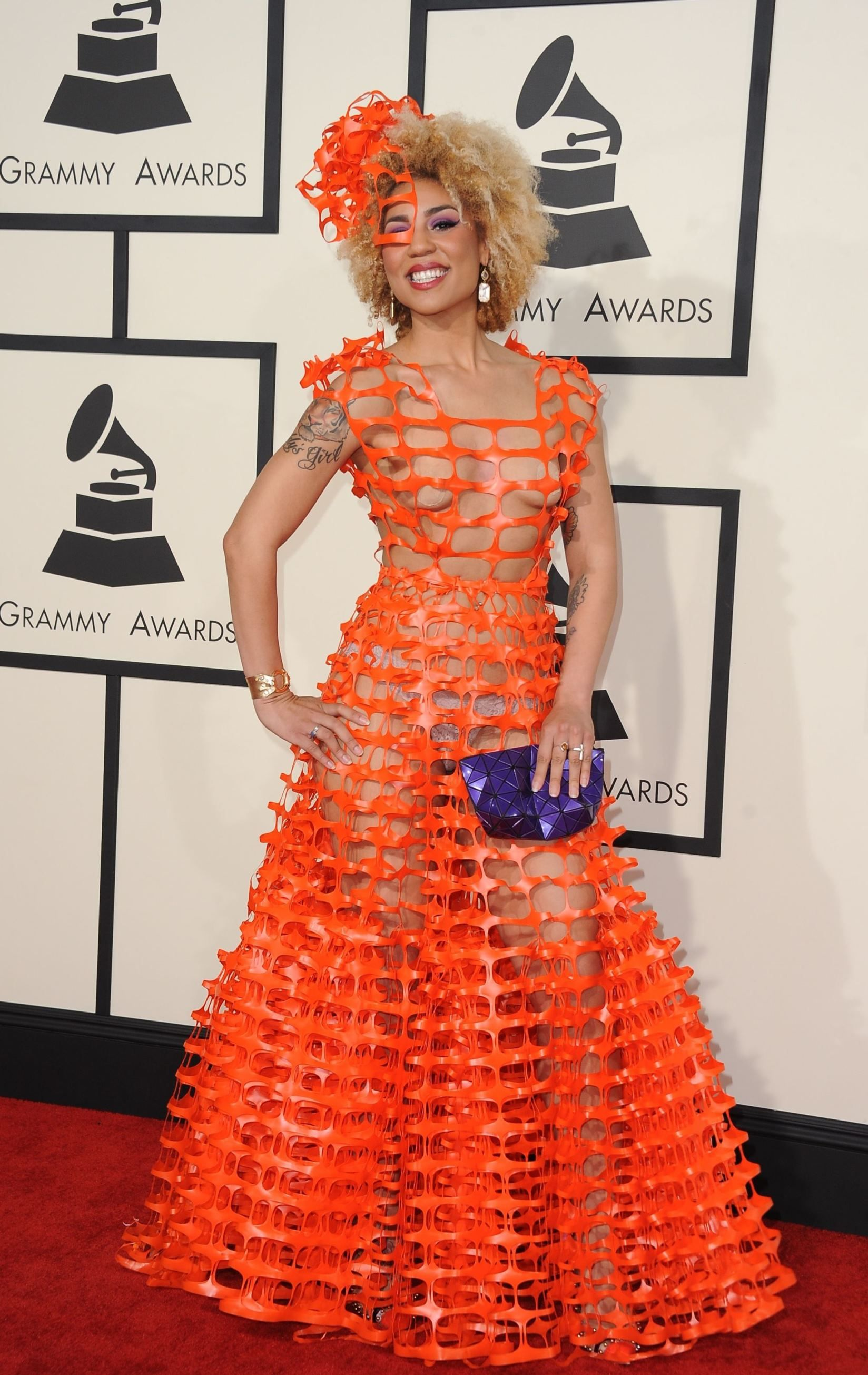 Crazy See Through Dress at the 2015 Grammy Awards