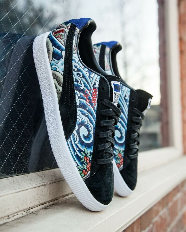 premium selection 4b0b5 e6bcb Atmos x Puma Clyde | Sneakers in 2019 | Puma sneakers, Shoes ...