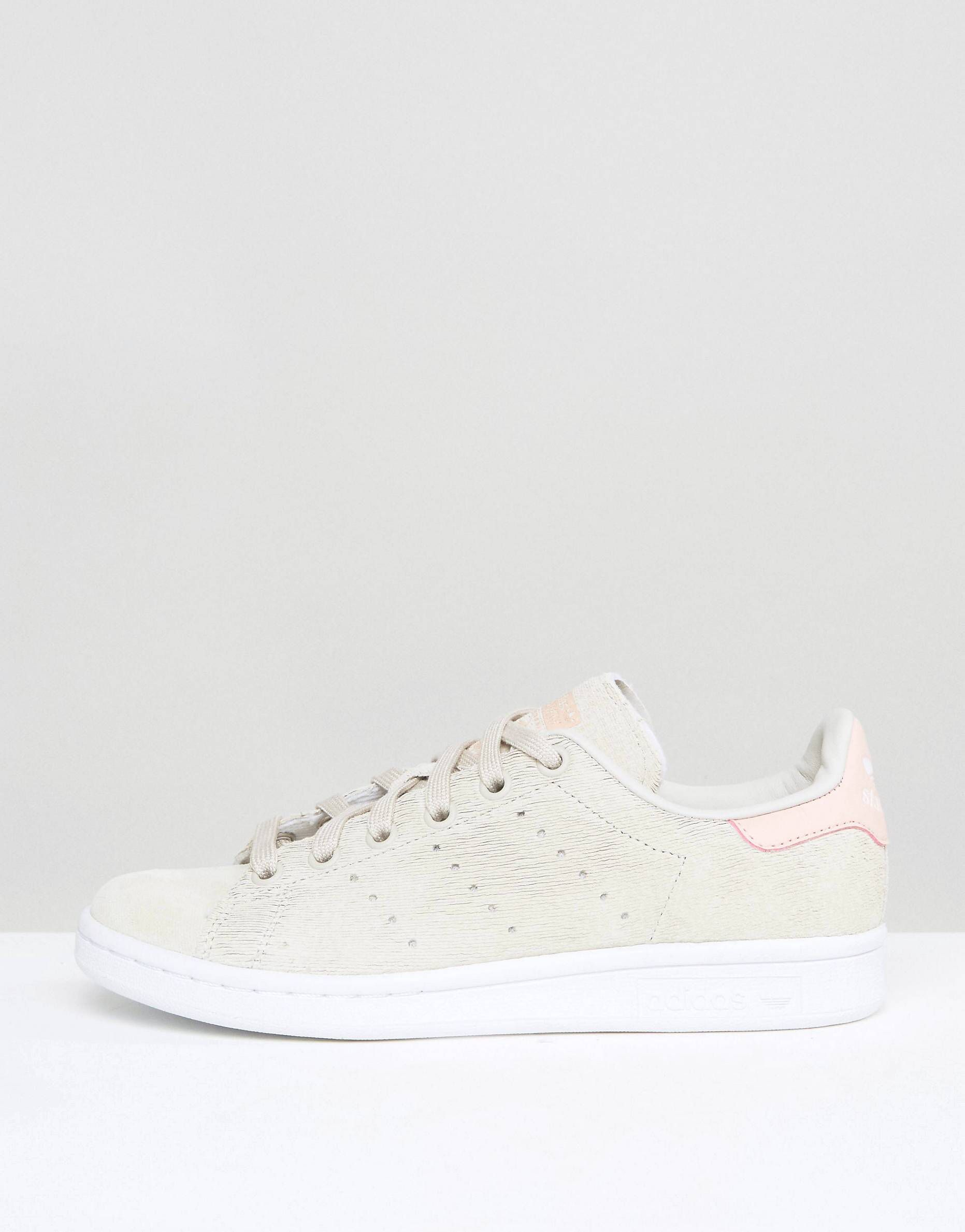 8b5047e2d0ac7 Adidas Stan Smith suede grey and pink sneakers, size 39.5 or 40 ...