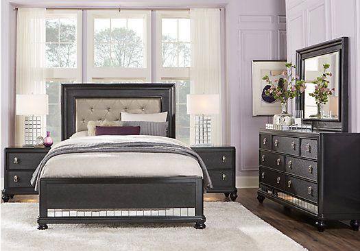 Sofia Vergara Paris Black 5 Pc King Bedroom in 2018 Master Retreat