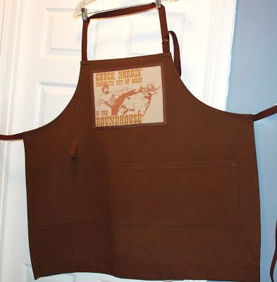 Sew Love this idea.  Using an old t-shirt to embellish an apron...or anything for that matter!
