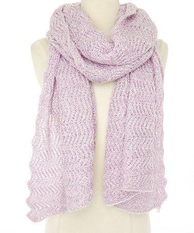 Look at this #zulilyfind! Pink Wave Crochet Scarf #zulilyfinds