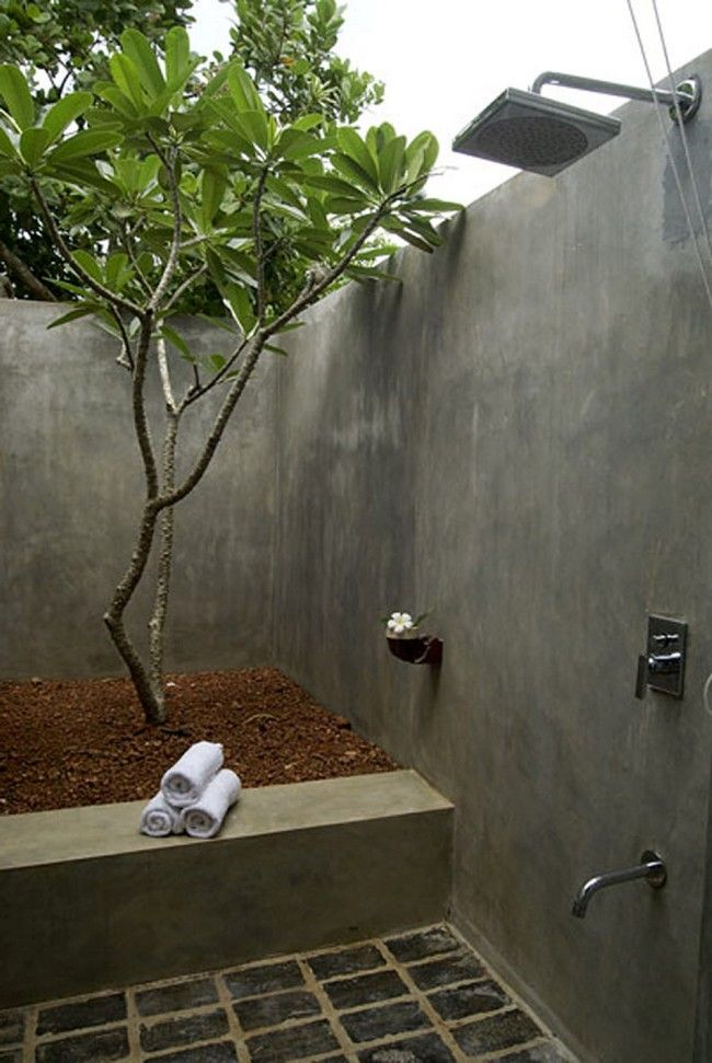 Amazing Outdoor BathroomShower Ideas You Can Try In Your Home Cool Outdoor Bathroom Plans Style