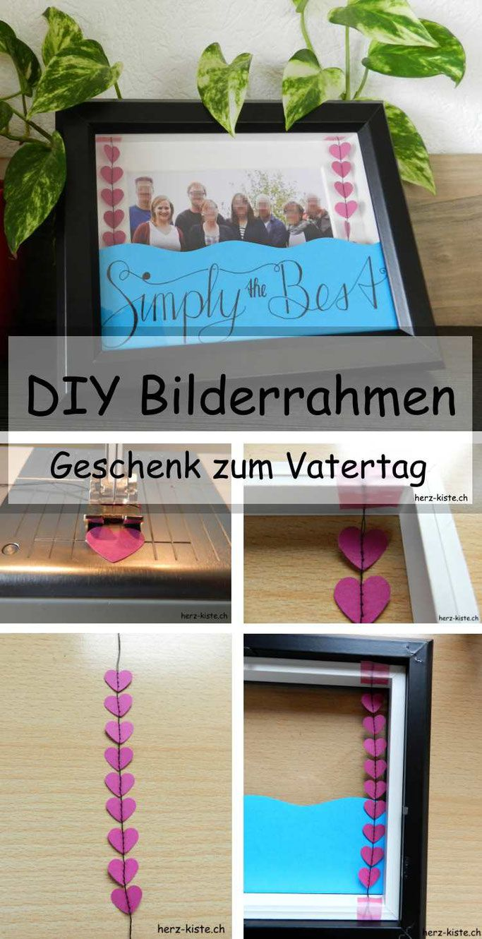 vatertagsgeschenk bilderrahmen zum vatertag diy. Black Bedroom Furniture Sets. Home Design Ideas