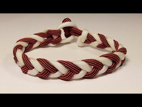 How You Can Make A 2 Color Four Strand Herringbone Braid Paracord