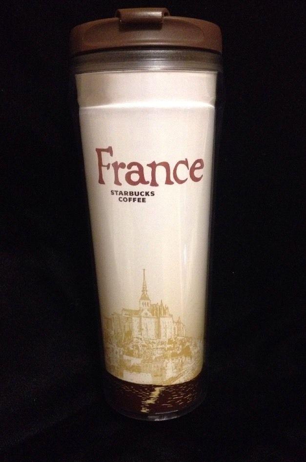 44d9280ded3 Details about Starbucks France Icon Tumbler Mug Brown White City New ...