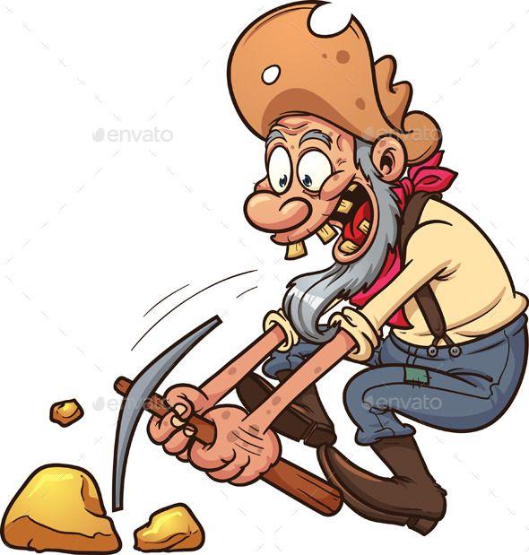 Gold Miner Gold Miners Clip Art Illustration Art