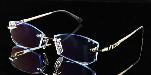 12dc965be787 Script glasses,Scriptglasses.com,Diamond cutting edge of rimless metal  glasses,rimless eyeglass frames for women/men silver rectangle, silver  prescription ...