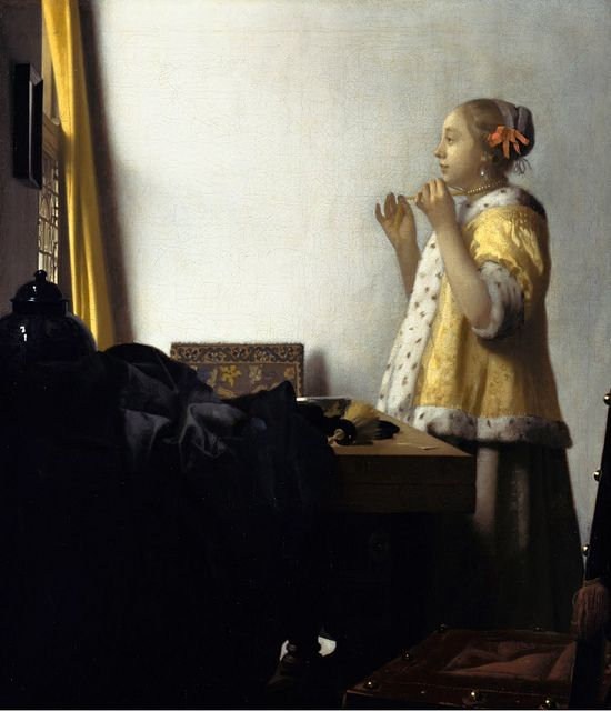 [ V ] Jan (Johannes) Vermeer - Woman with a Pearl Necklace (1662) by Cea., via Flickr